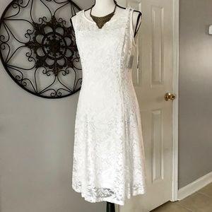 NWT - Liz Claiborne White Lace Dress